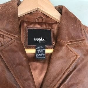 NWT Mossimo Leather Jacket Brown XS